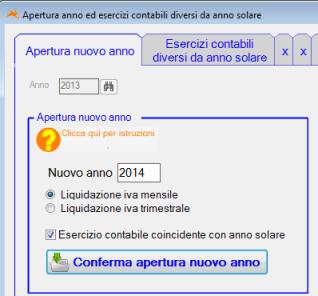Apertura nuovo esercizio contabile - Diversi a diversi contabilita ...